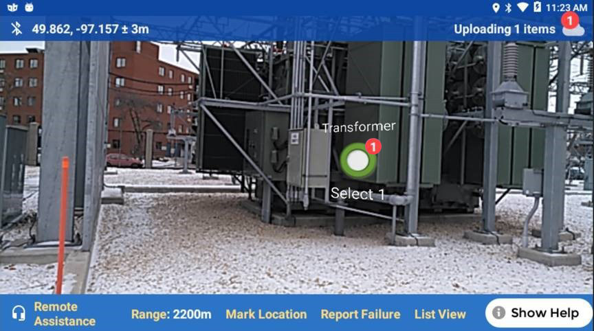The VisualSpection platform, coupled with Heads Up Displays, seamlessly observes, collects and organizes site-specific information from any system, including substations, distribution lines, transmission lines or power plants.